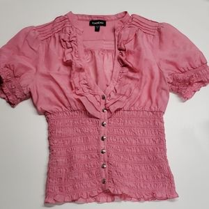 Adorable cropped blouse by BeBe!